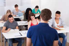 Teacher Teaching University Students